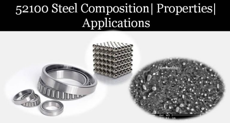 52100 steel 1095 cro van steel properties, composition and applications