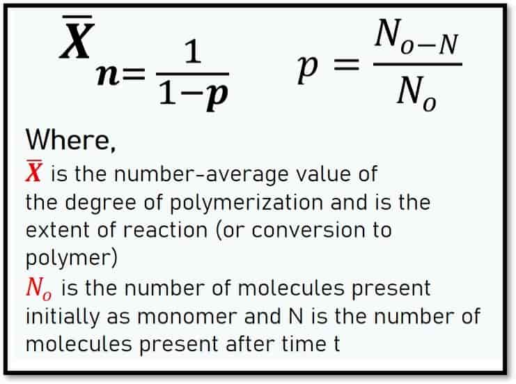 Carothers Equation for Degree of Polymerization