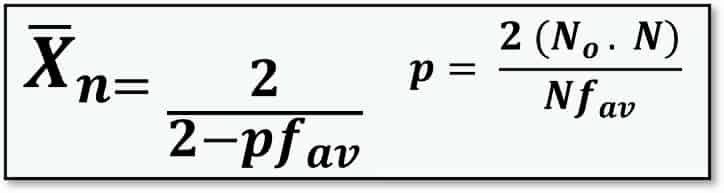 Modified Carothers Equation for DOP