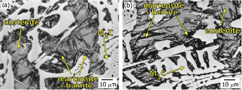 Optical-micrographs-of-Ni-Cr-white-iron-in-a-as-cast-state-and-b-heat-treated-state