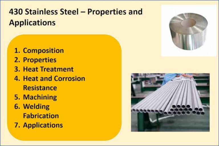 430 stainless steel Properties and Applications