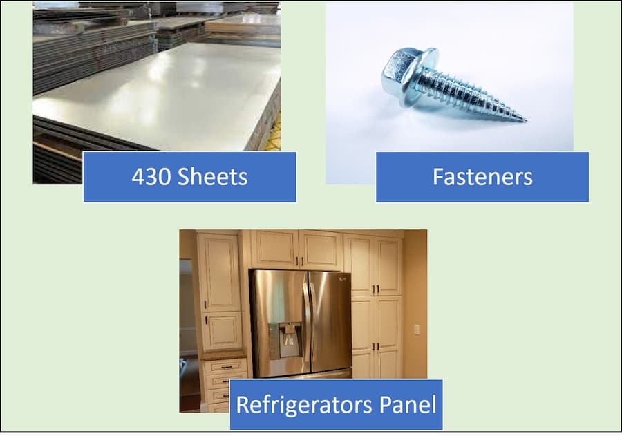 430 stainless steel applications